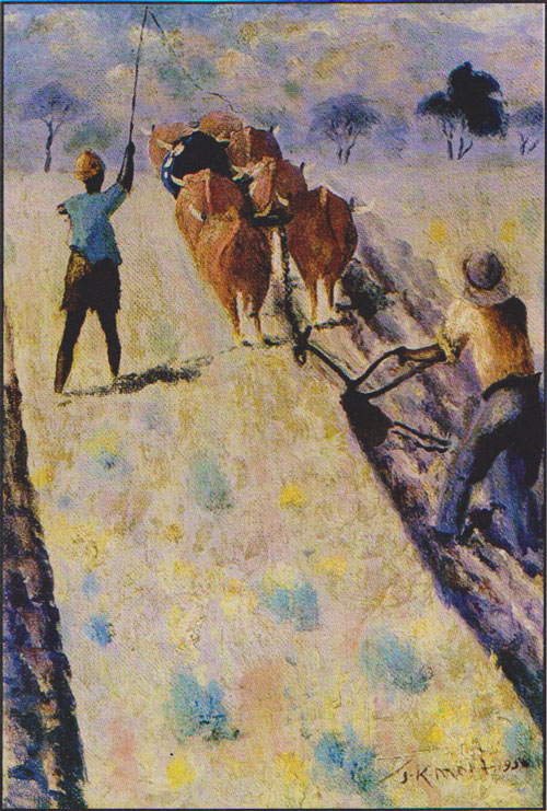 John Mohl, Ploughing, 1956