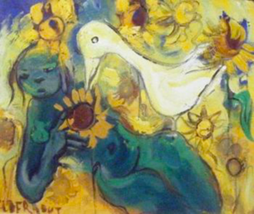 Lady Figure with Duck