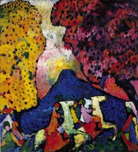 Wassily Kandinsky, Blue Mountain (Der blaue Berg), 1908–09