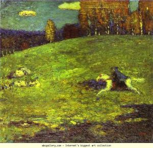 """Der Blaue Reiter"" (The Blue Rider), painted 1903 by Wassily Kandinsky"
