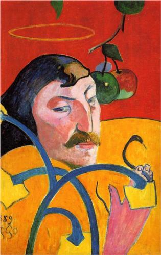 Self-portrait(Gauguin) with Halo 1889