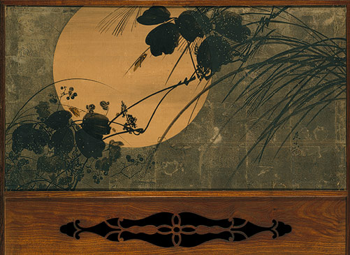 Autumn Grasses in Moonlight, Meiji period (1868–1912), ca. 1872–91  Shibata Zeshin (Japanese, 1807–1891)
