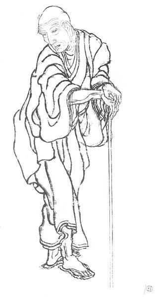 Katsushika Hokusai self portrait