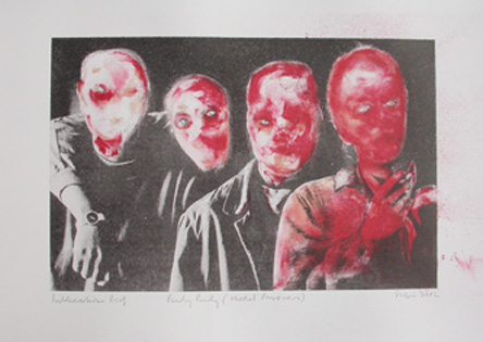 Model Prisoners, (2002) Lithograph