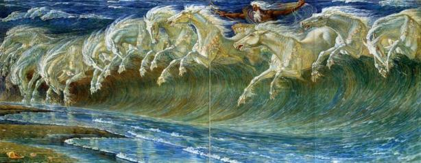 Walter Crane - Horses of Neptune