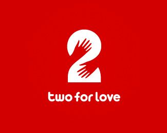 Two for Love Logo